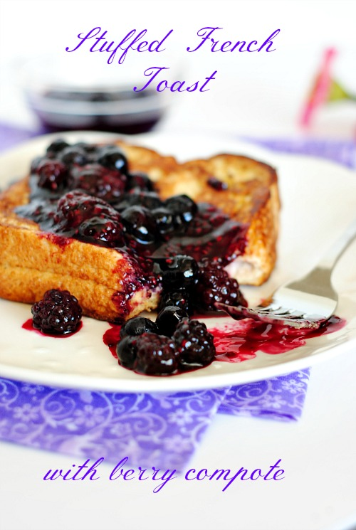 Stuffed French toast with berry compote |you-made-that.com