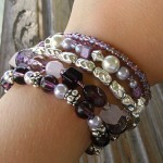 Thumbnail image for Purple & Silver Beaded Bracelets