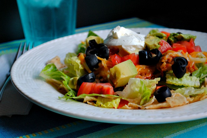 Skillet taco salad |Suzanne @www.you-made-that.com