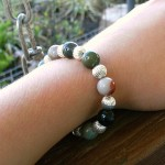 Thumbnail image for Silver and Green Beaded Necklace & Bracelet