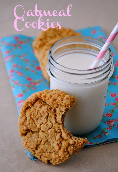 Oatmeal cookies @www.you-made-that.com