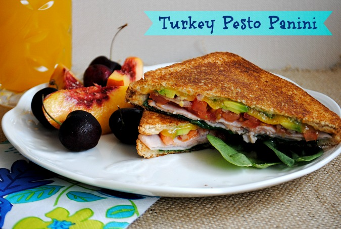 Smoked turkey pesto panini | www.you-made-that.com