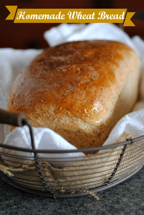 homemade wheat bread | you-made-that.com