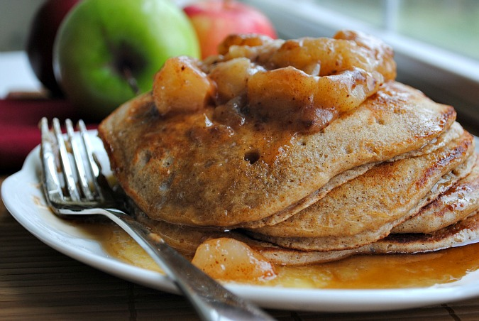 Buttermilk apple pancakes |Suzanne @www.you-made-that.com