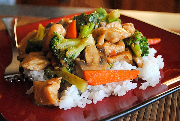 Healthy vegetable stir fry w/ chicken