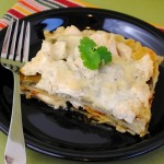 Thumbnail image for Easy Chicken Alfredo Pesto Lasagna