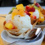 Thumbnail image for Coconut Ice Cream in Edible Bowls with Tropical Salsa