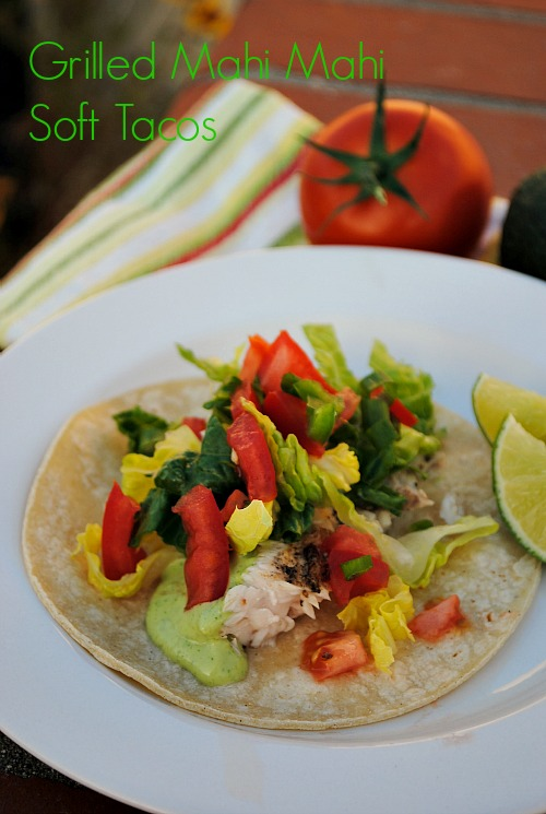 Grilled Mahi Mahi Soft Tacos| www.you-made-that.com