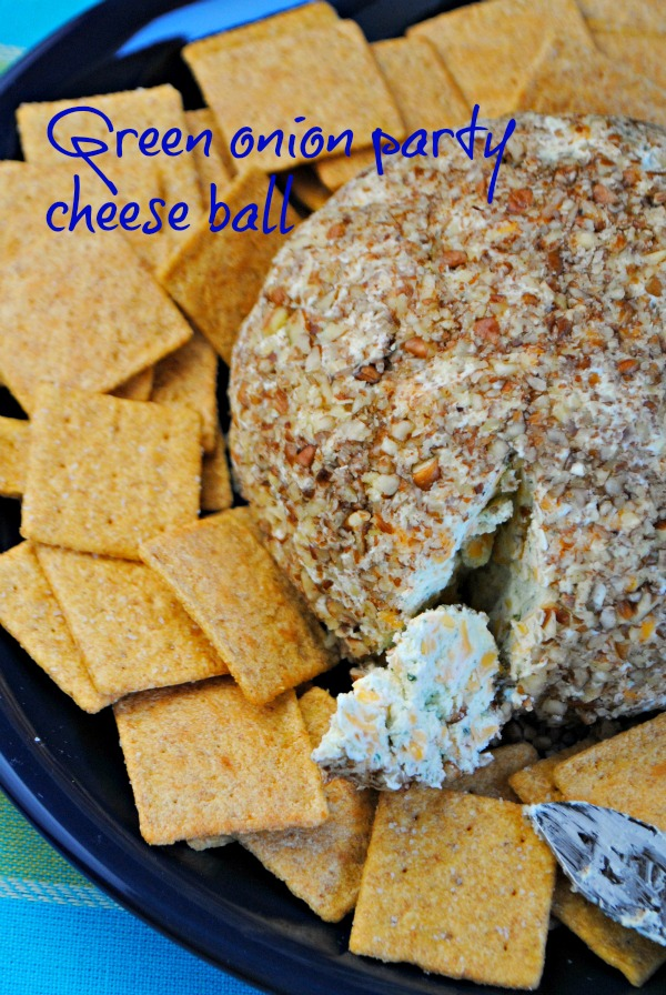 Green onion party cheese ball