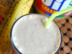 Thumbnail image for Peanut Butter Banana and Cinnamon Milkshake