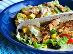 Thumbnail image for Grilled Chicken Tacos with Cilantro Lime Honey Dressing