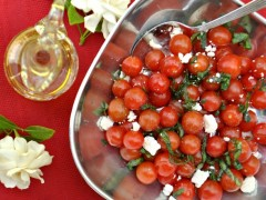 Thumbnail image for #Tomatolove-Garden Cherry Tomato Salad with Herbs and Feta