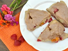 Thumbnail image for Spiced Peach and Raspberry Scones