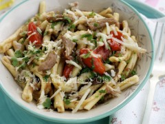 Thumbnail image for Pasta with Porcini Mushrooms & Datterini Tomatoes with Truffle Oil~Guest Post from Apron and Sneakers