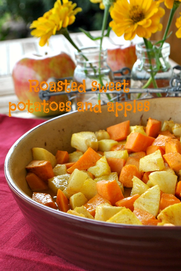 Roasted Sweet Potatoes & Apples
