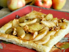 Thumbnail image for Easy Apple Walnut Pastry with Buttermilk Sauce