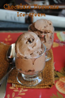 Chocolate brownie ice-cream