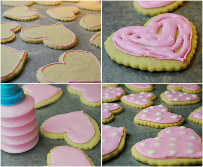 heart cookie Collage