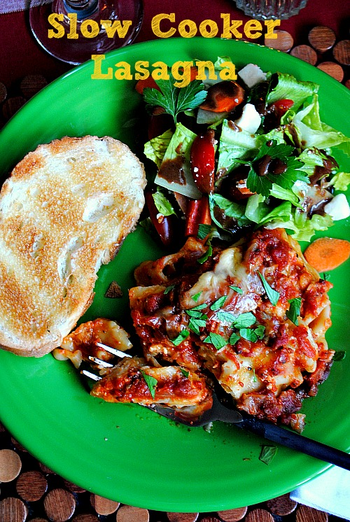 Slow cooker lasagna Suzanne @www.you-made-that.com