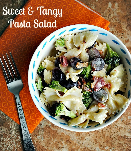 Sweet & tangy pasta salad |Suzanne @you-made-that.com