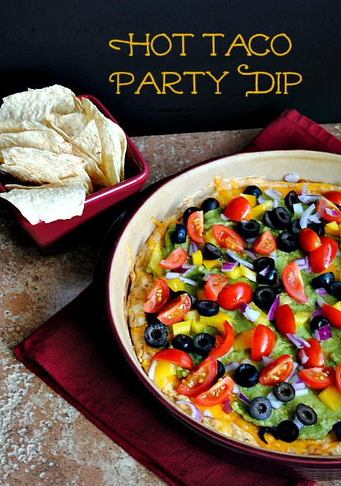Hot Taco Party Dip |Suzanne @www.upi-made-that.com