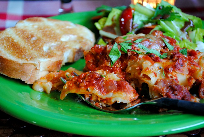 slow cooker lasagna Suzanne @you-made-that.com