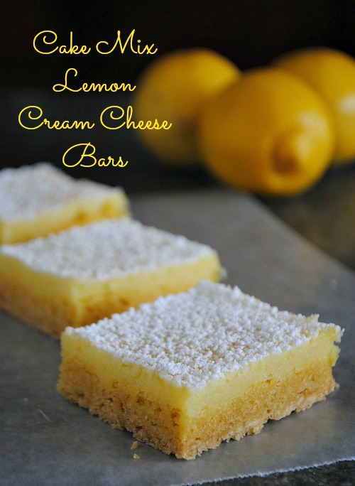 Cake mix lemon cream cheese bars|www.you-made-that.com