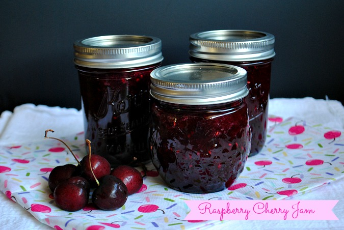 Raspberry Cherry Jam|www.you-made-that.com