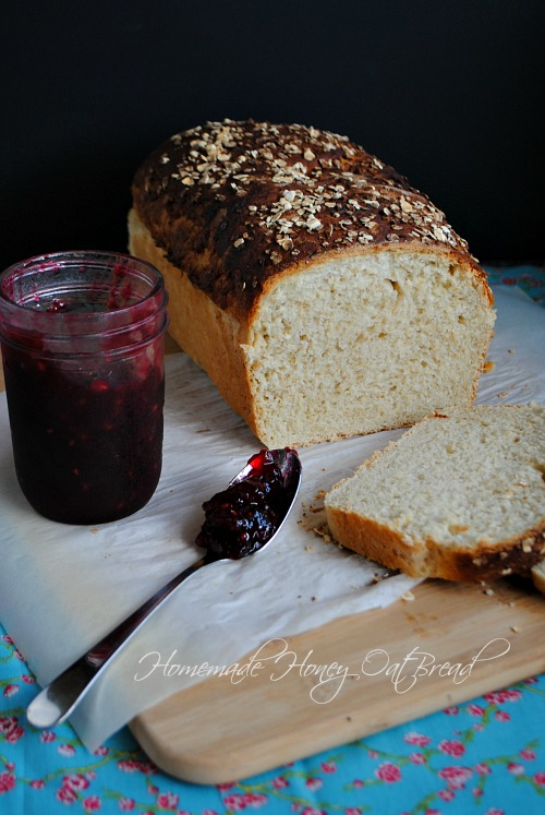 Homemade honey oat bread|www.you-made-that.com
