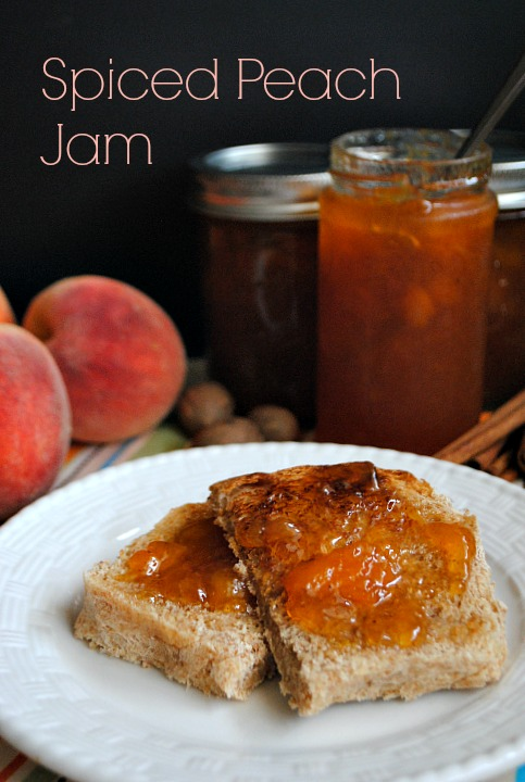Spiced Peach Jam | www.you-made-that.com