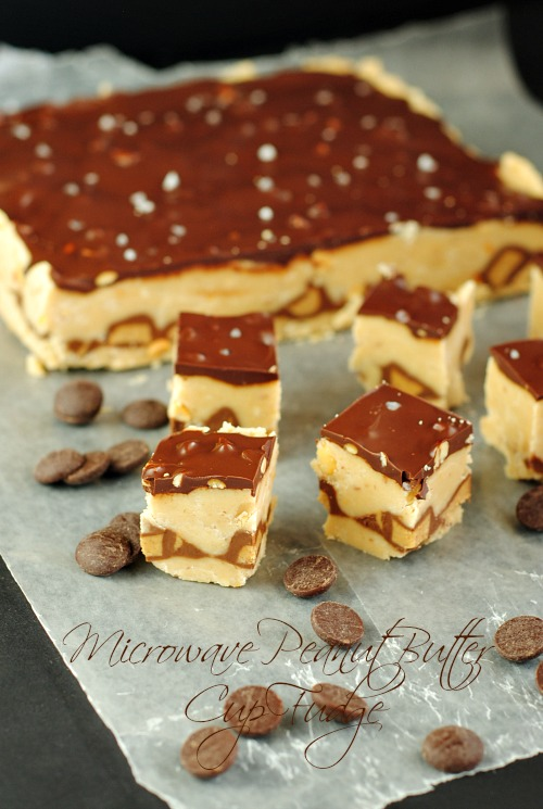 Microwave Peanut Butter Cup Fudge you-made-that.com