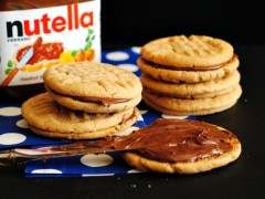 Thumbnail image for Peanut Butter and Nutella Sandwich Cookies