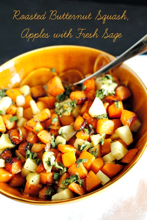 Roasted butternut squash, apple with fresh sage | you-made-that.com