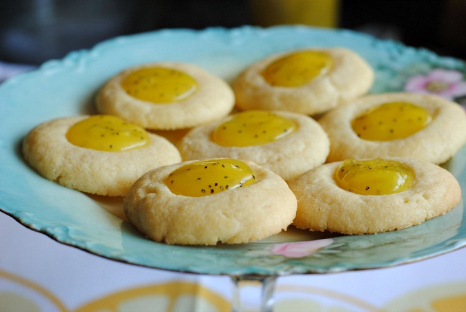 Lemon poppy seed curd thumbprint cookie  you-made-that