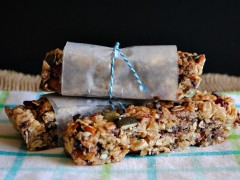 Thumbnail image for No bake  honey sweetened granola bars