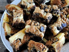 Thumbnail image for Peanut butter chocolate chip cookie cheesecake bars
