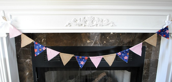No sew patriotic bunting | you-made-that.com