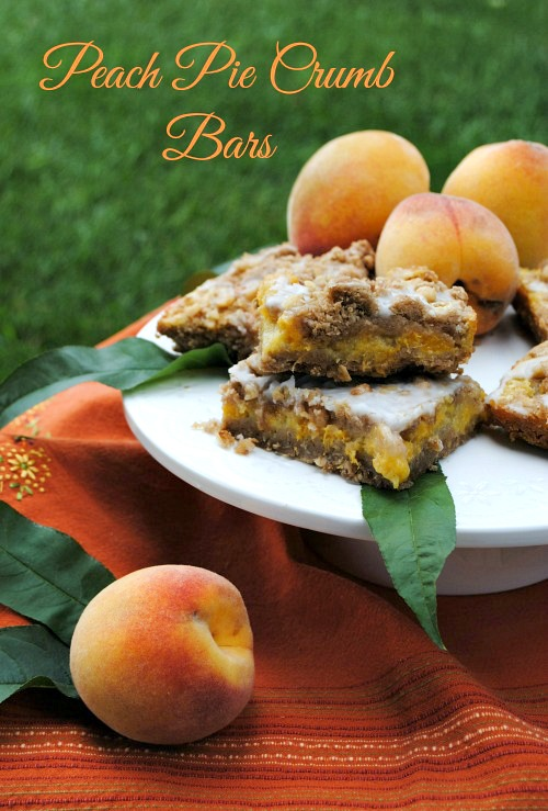 Peach Pie Crumb Bars | you-made-that.com