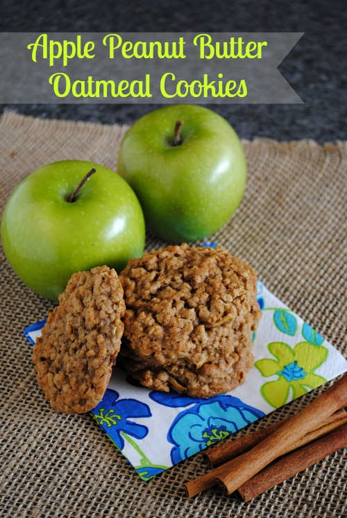 Apple Peanut Butter Oatmeal Cookies | you-made-that.com