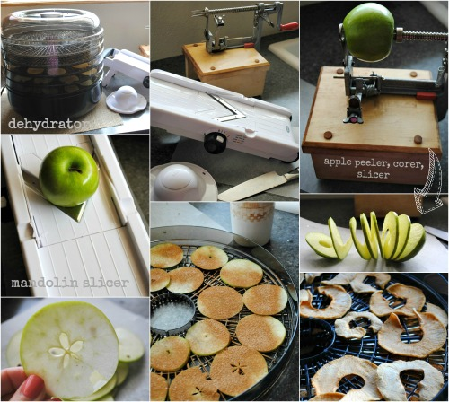 apple slicing,dehydrating collage |you-made-that.com