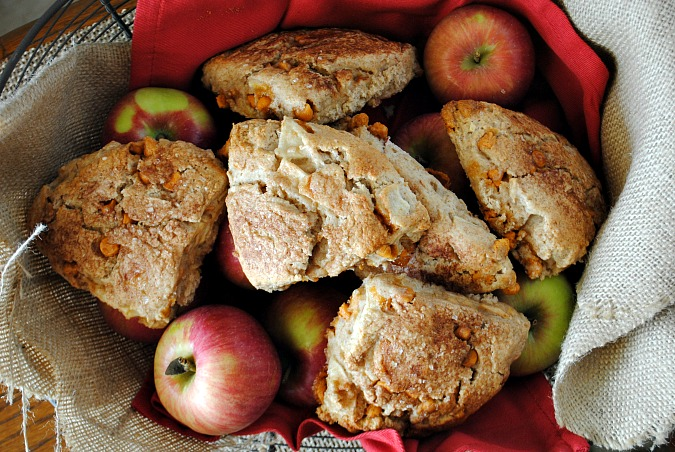 Apple scones with butterscotch chips | you-made-that.com