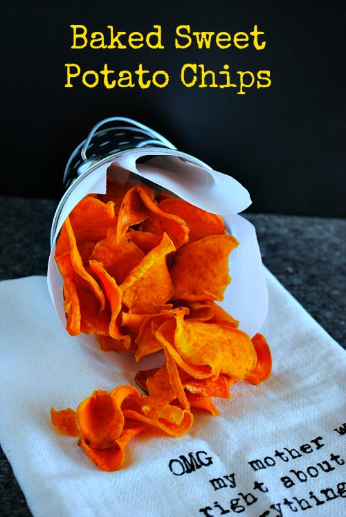Baked sweet potato  chips | you-made-that.com