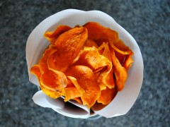 Thumbnail image for Baked Sweet Potato Chips and Book Review