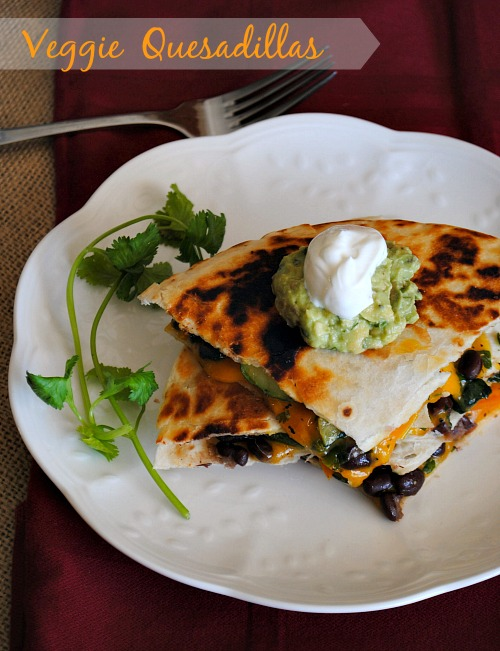 Veggie Quesadillas| you-made-that.com
