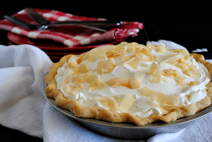 Coconut cream pie | you-made-that.com