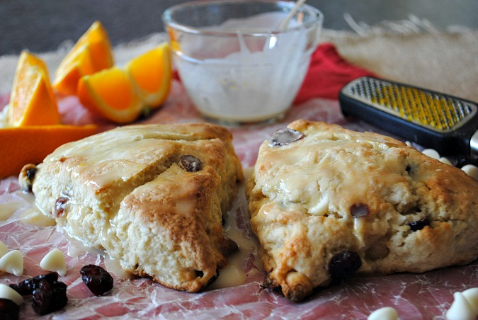 Orange cranberry white choc scones |you-made-that.com