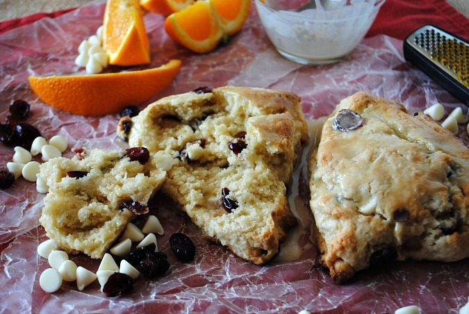 Orange cranberry white chocolate scones | you-made-that.com