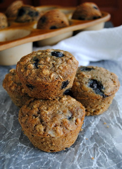 Healthy blueberry muffins you-made-that.com