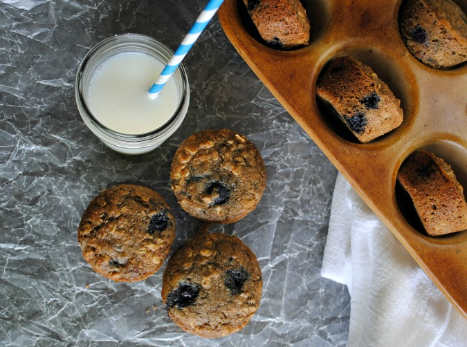 Healthy blueberry muffins |you-made-that.com