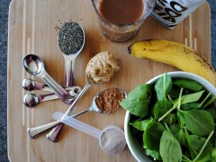 Thumbnail image for Healthy green peanut butter banana chocolate smoothie